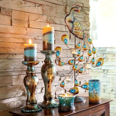 Best 20 peacock decor ideas on pinterest peacock for Pier 1 dining room centerpieces