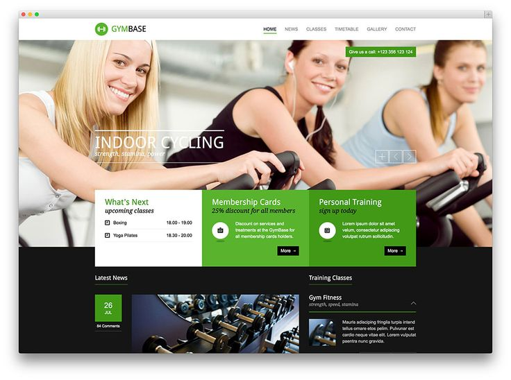 19 best Templates WordPress Fitness e Ginásios images on Pinterest - fitness templates free