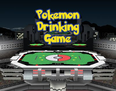Pokemon Drinking Game So I havent made a Pokemon drinking game yet, nor have I received a submission. This must be corrected now. Grab a six pack of your favorite beer, a buddy, and a Nintendo DS (or old school Gameboy and link cable). Bring your best six to the ring and get ready! Six beers in a six pack and six pokemon in a full team. Coincidence? I think not. Rules:-One of your pokemon faints = 3 sips-Your pokemon is inflicted with a status ailment or is affected by the status ail