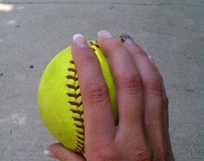 Fastball Grip for a Softball - Kimberly-Edwards.com
