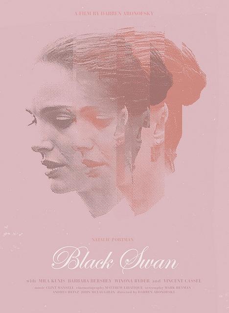 Sam Smith reimagines Black Swan poster.