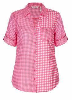 Elbow Sleeve Button Through Volie Shirt