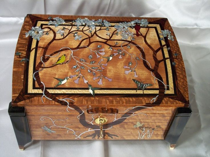 step-mom's jewelry box - by larryw @ LumberJocks.com ~ woodworking community