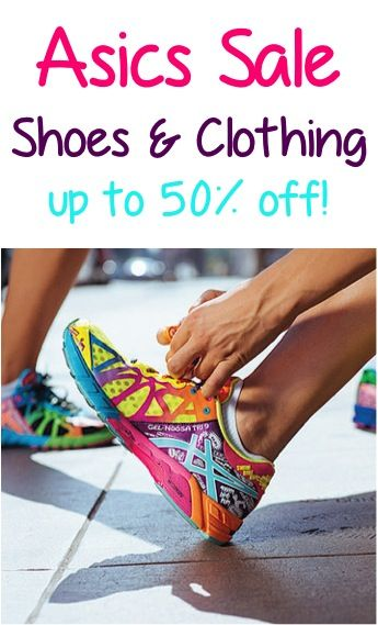 Asics Shoes and Clothing Sale: up to 50% off! ~ snatch up a cute new pair of athletic or running shoes! #women #thefrugalgirls