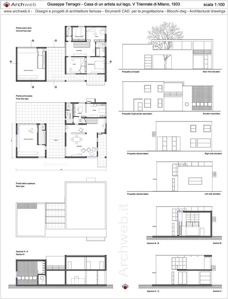 Casa sul lago per un artista disegni dwg idee per archicad for Arredi archicad