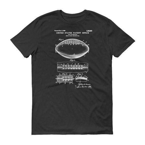 Football Ball Patent T-Shirt 1939 - Patent shirt Old Patent t-shirt Football Fan Football Player Football Patent Football Gift by PatentsAsPrints