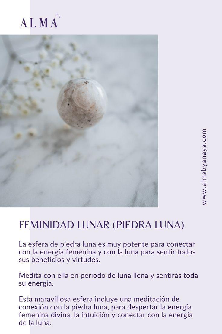 Feminidad Lunar Esfera De Piedra Luna Alma By Anaya Sanacion Energetica Esferas Uñas Con Piedras