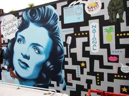 Murale pour Montréal,de l'organisme Mu en hommage à Alys Robi
