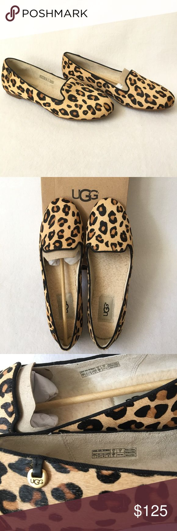 Authentic UGG Leopard Shoes 100 Authentic. Gorgeous calf hair leopard shoes from UGG. Lightweight & very comfortable. Size 7. New, never used, tag attached to the box. PRICE FIRM. UGG Shoes