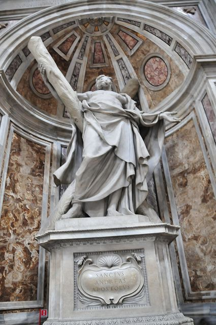 Statue of St. Andrew- St. Peter's Basilica
