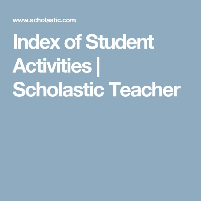 163 best 2017 images on pinterest school learning and languages index of student activities scholastic teacher fandeluxe Image collections