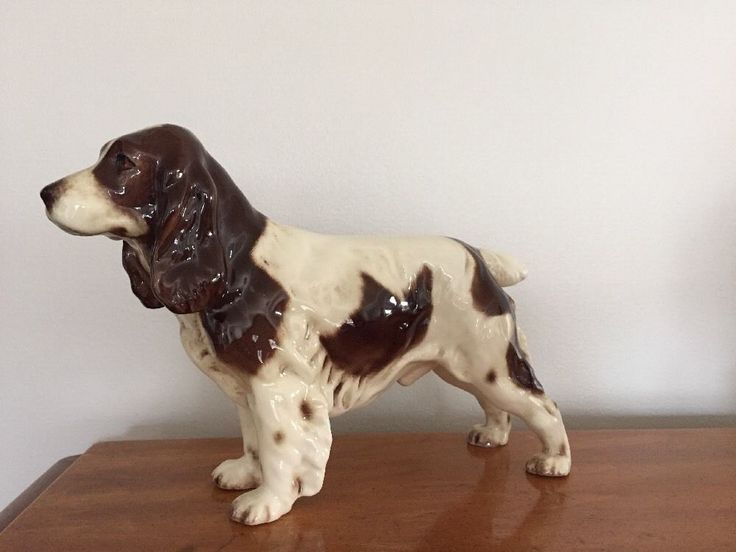 1960 u0026 39 s goebel w germany male springer spaniel dog figurine porcelain ch623