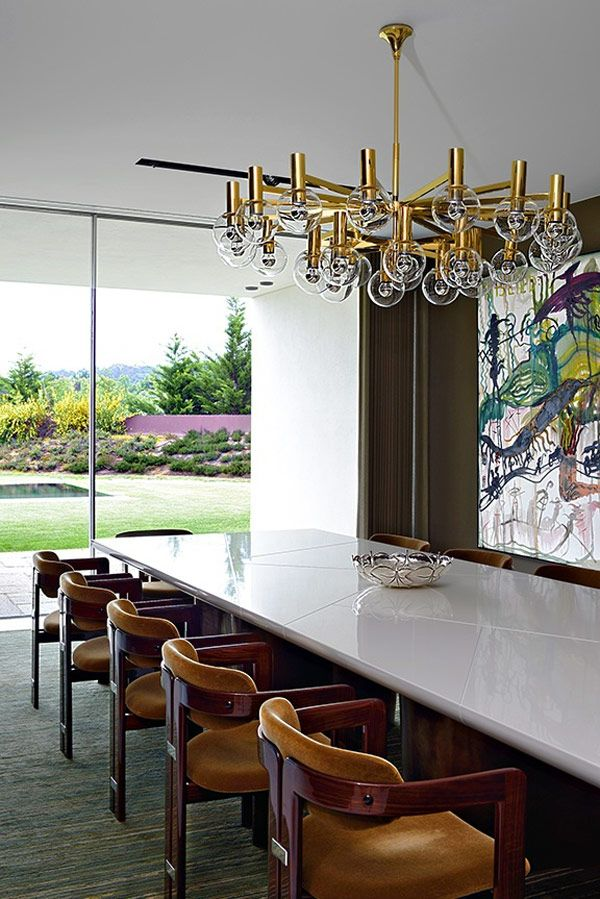 A lux modern invisible house: Modern Dining Rooms, Lighting, Interiors, Modern Diningroom, Light Fixture, Modern House