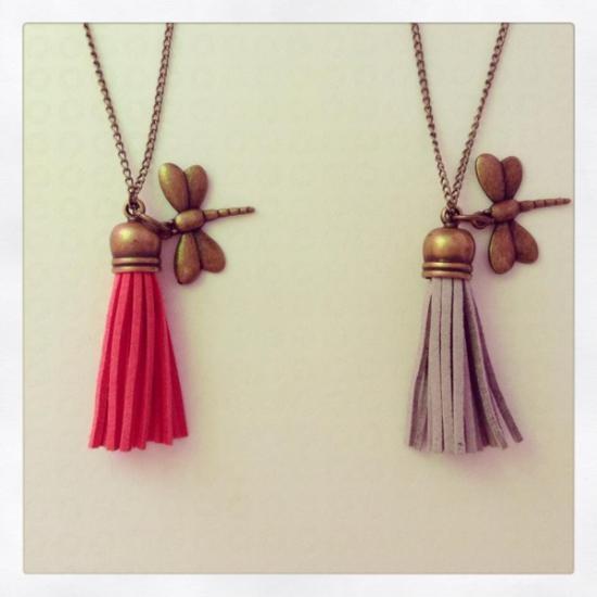 Collar largo libélula ;)