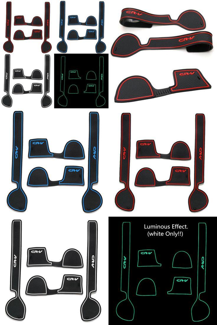 [Visit to Buy] Newest Car Anti Slip Mat Car Door Groove Mats Latex Interior Cup Cushion Fit For Honda CRV 2008 2009 2010 Auto Accessories 4pcs  #Advertisement