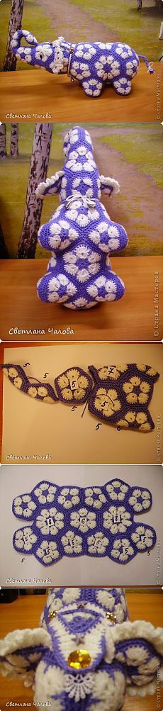 MK Elefante di articoli a maglia & quot; & quot fiore africano;. | Paese Masters