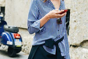 25 Ways To Wear A Striped Button-Down Shirt