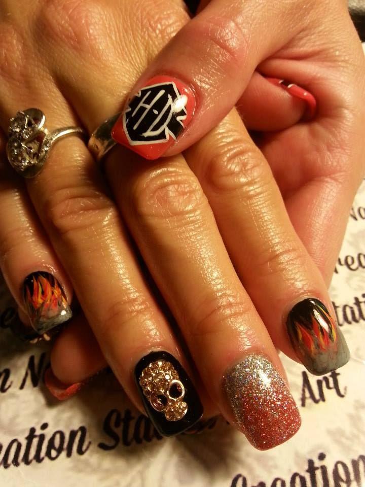 13 Best Harley Davidson/ Car/ Racing Nails Images On
