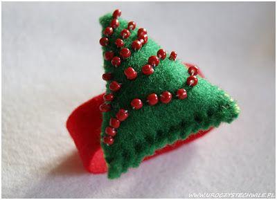 Świąteczny serwetnik z filcu... HANDMADE