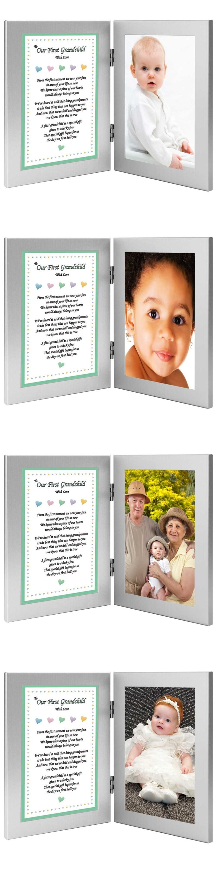 Baby Picture Frames 117392: To Our First Grandchild With Love - Sweet Poem From Grandparents In Double Frame -> BUY IT NOW ONLY: $37.27 on eBay!