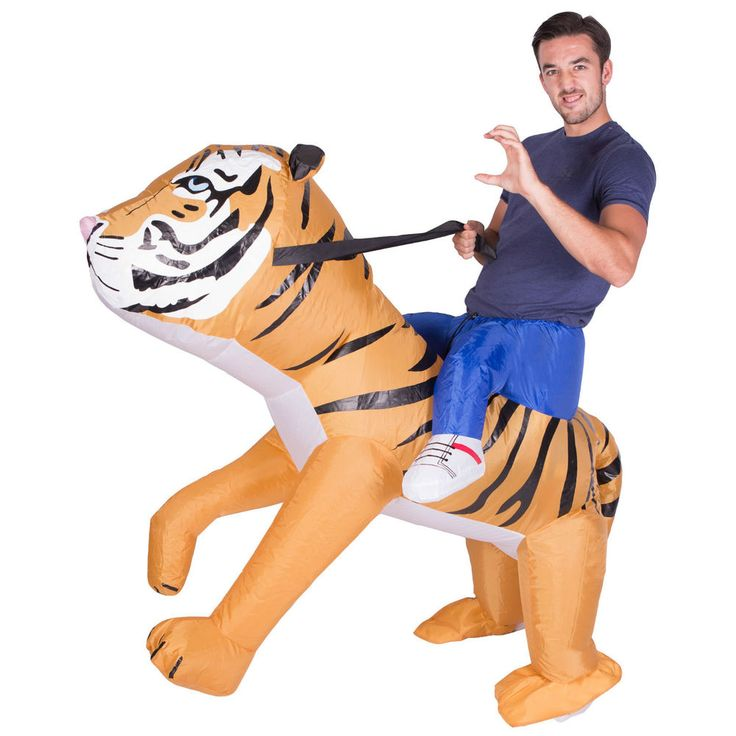 INFLATABLE TIGER FANCY DRESS COSTUME ZOO ANIMAL SUIT HEN STAG OUTFIT