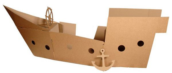diy cardboard pirate ship - Google Search
