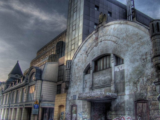 Lodz, Poland...   This building used to be a cinema