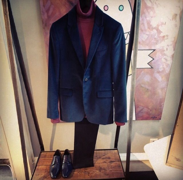 The roll neck/blazer combo- a true classic #JohnSmedley #ShareYourStyle