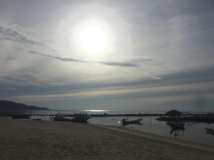 #goodmorning #sunrise #today #morning #nofilter #beautiful #kohsamui #beach