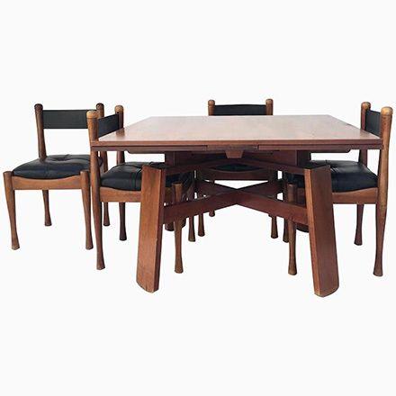 Esstisch Mit Vier Stühlen Von Silvio Coppola Für Bernini, 1960er Jetzt  Bestellen Unter: Https://moebel.ladendirekt.de/kueche Und Esszimmer/tische/esstische  ...