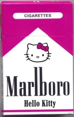Hello Kitty-where was this when i smoked?its even my brand! But instead of Marlboro red it  would have been PINK!!!!! :D