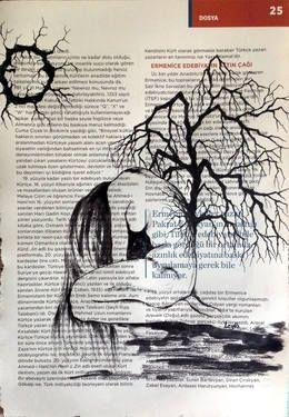 "Saatchi Art Artist Leyla Özlüoğlu; Painting, ""pieta"" #art #illustration #drawing #oldpaper #picture #sketch #sketchbook #paper #pen #watercolor #book #gallery #musicpaper  #artoftheday #vintage"