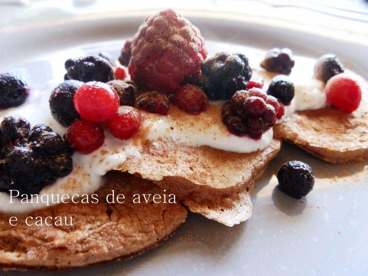 A Cozinha da Ovelha Negra: Panquecas de aveia e cacau / Oat&cocoa powder panc...