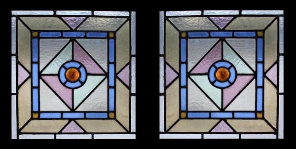 Victorian Rondels stained glass windows