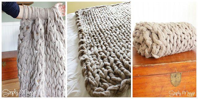 Manta de lana gruesa DIY