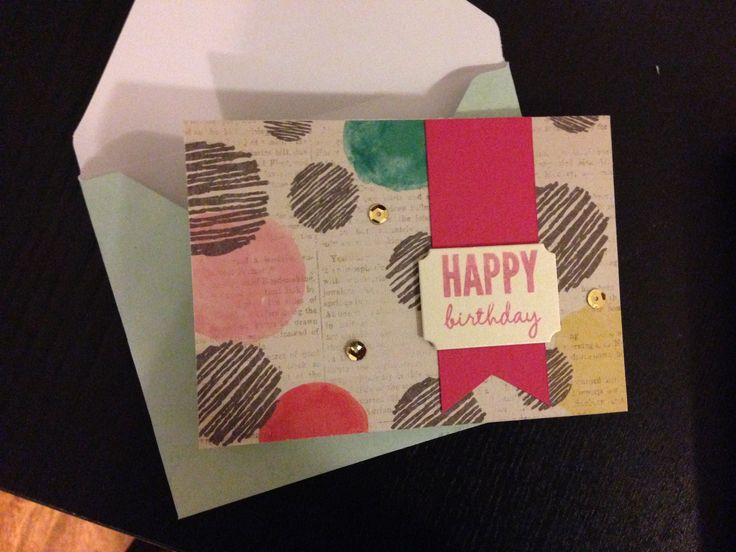Celebrate today banner - stampin up