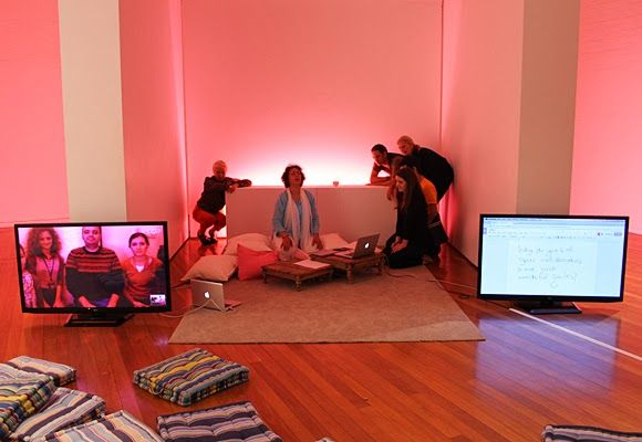 Skype QUEST with Dogus University (Istanbul, Turkey) at Artereal Gallery, 2013
