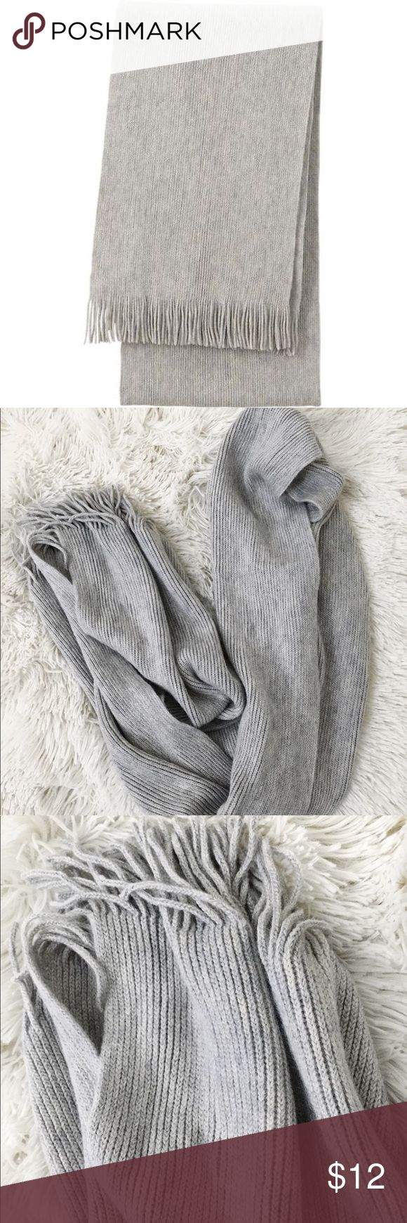 💰SALE💰2for$15💰Light grey scarf Light grey ribbed scarf  - bundle to save! Add any two items with 2for$15 in bundle and I will update the price.  #grey #scarf #winter #rib Uniqlo Accessories Scarves & Wraps