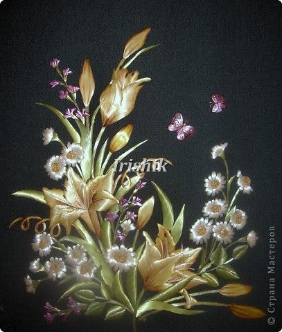 Картина панно рисунок Флористика Праздник осени Аппликация Вдохновение 50х60 Соломка
