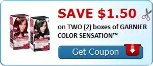 New Coupon!  Save $1.50 on TWO (2) boxes of GARNIER COLOR SENSATION™ - http://www.stacyssavings.com/new-coupon-save-1-50-on-two-2-boxes-of-garnier-color-sensation/