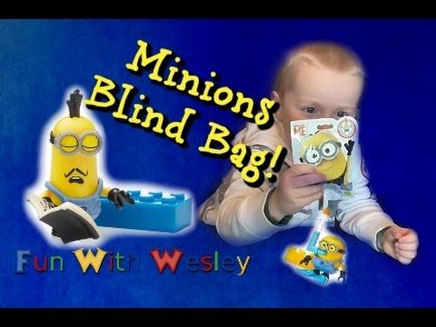 MINION BLIND BAG - Buildable Minions Blind Pack - Opening Minions Surprise Bag This is Wesley's first buildable Minions Blind Pack. He was so excited to open...