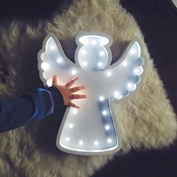 Baby Shower Gift For Decor Angel Light Figurine Guardian