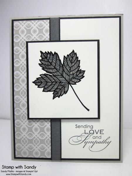 Magnificent Maple Sympathy, PPA185 by stampwithsandy - Cards and Paper Crafts at Splitcoaststampers