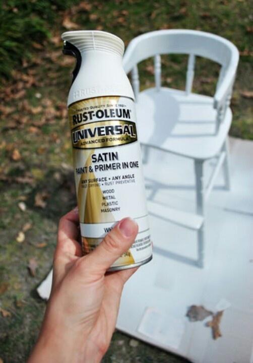 Satin White Spray Paint Part - 37: Pinterest