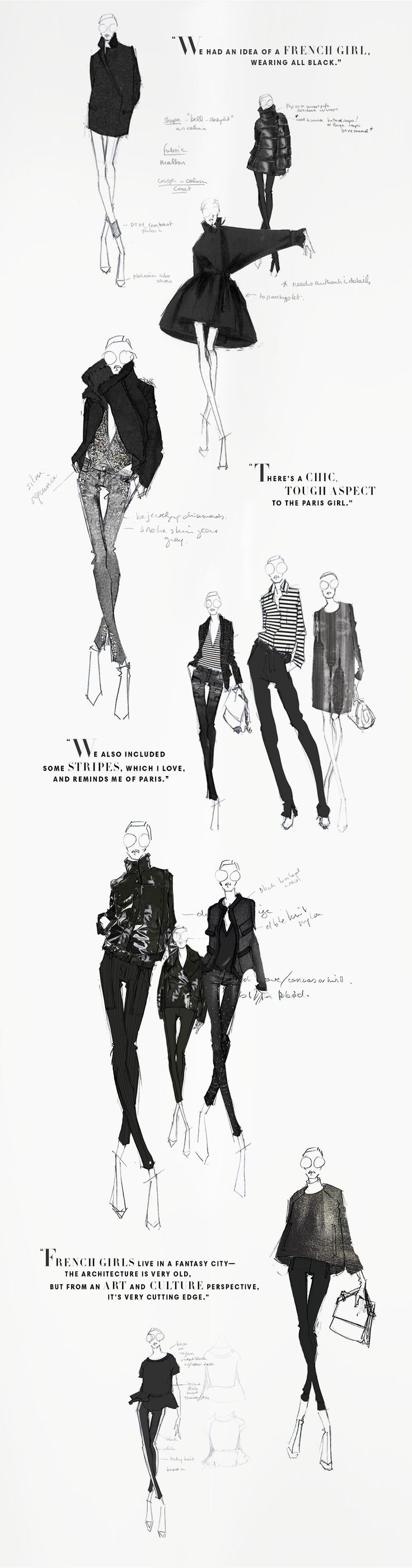 Beautiful sketches from the Joe Fresh sketchbook - Winter 2013. JOEFRESH.COM