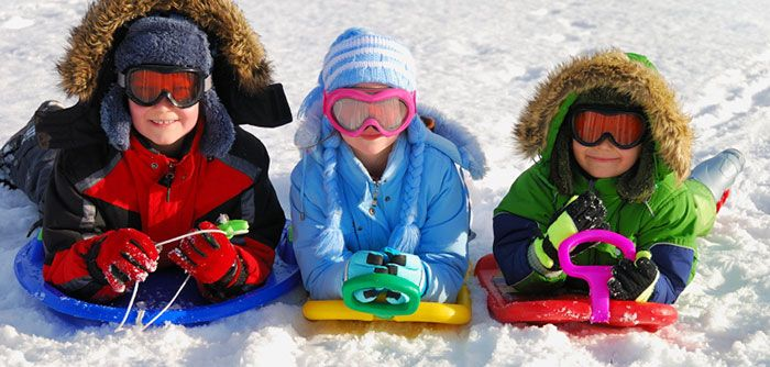 Grab your sleds and find a local hill