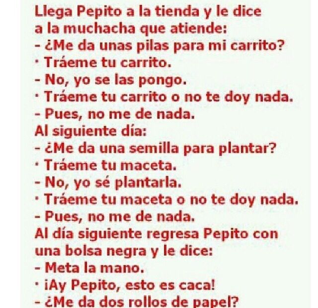 Chistes de Pepito on Pinterest | Chistes, Short Jokes and Funny