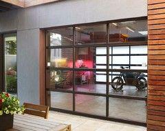 Glass Garage Door Living Room