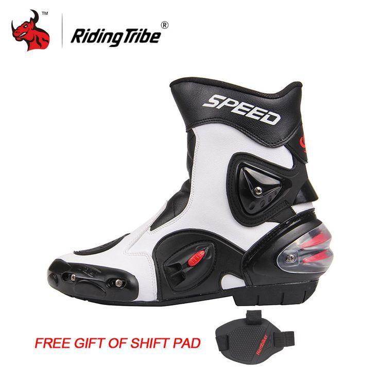 Promo Riding Tribe Motorcycle Boots Men Bota Motocross Botas Moto Motorboats Shoes Motorbike Racing #Motocross #Racing