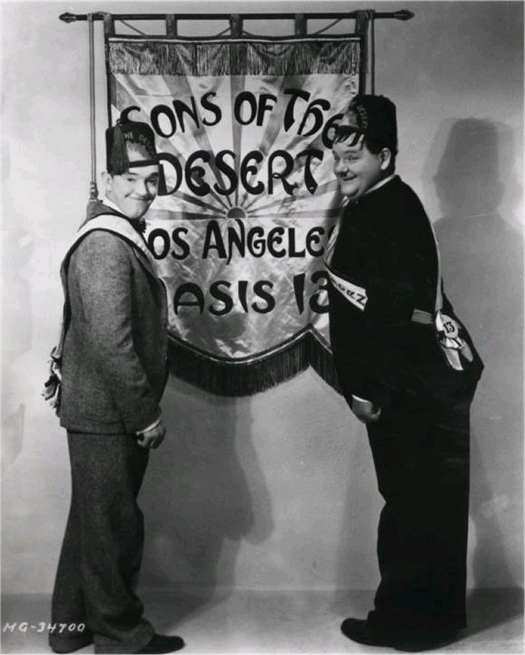 """Studio Picture in """"Sons of the Desert""""  Talking Film 1933"""